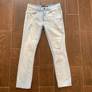 RSQ Jeans Seattle Crop Tapered Light Wash 27.25""